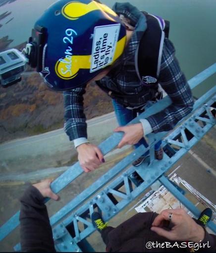 Climbing over