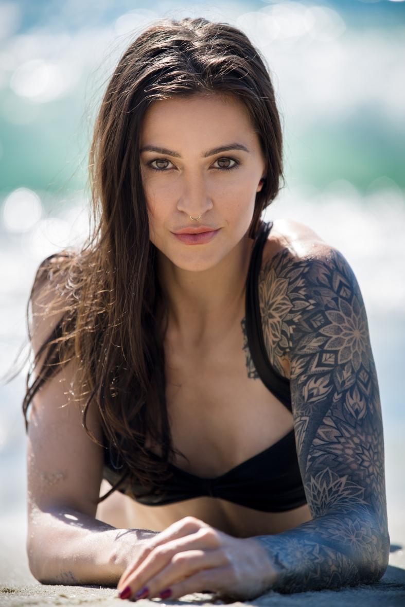 Claire Marie, Clair Marie, base girl, tattooed model, Female stunt man, stunt woman, female base jumper, bikini model